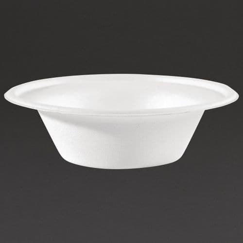 CW906 Fiesta Green Compostable Bagasse Bowls Round 10oz (Pack of 50)